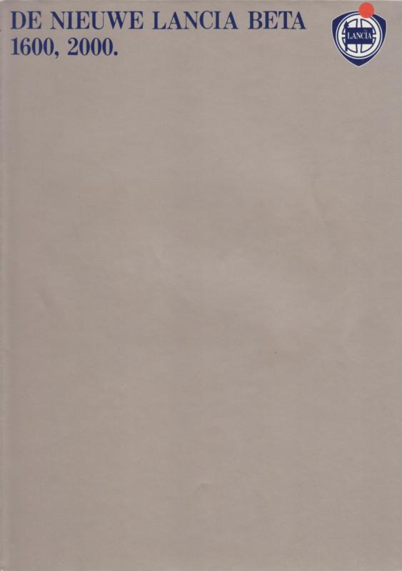 Beta Sedan brochure, A4-size, 8 pages, about 1979, Dutch language