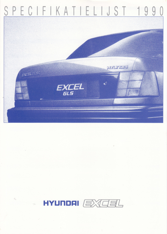 Excel specifications brochure, 4 pages, 1990, Dutch language
