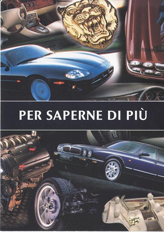 XJ Sedan & XK Coupe,  larger postcard, 16 x 11 cm, Italian importer, 04/1998