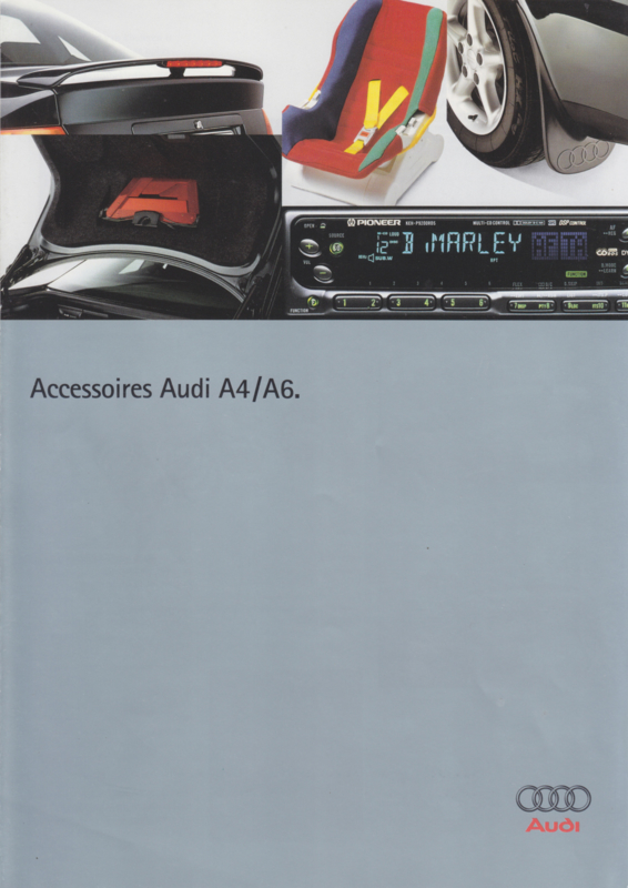 A4 & A6 accessories brochure, 4 pages, about 1996, Dutch language