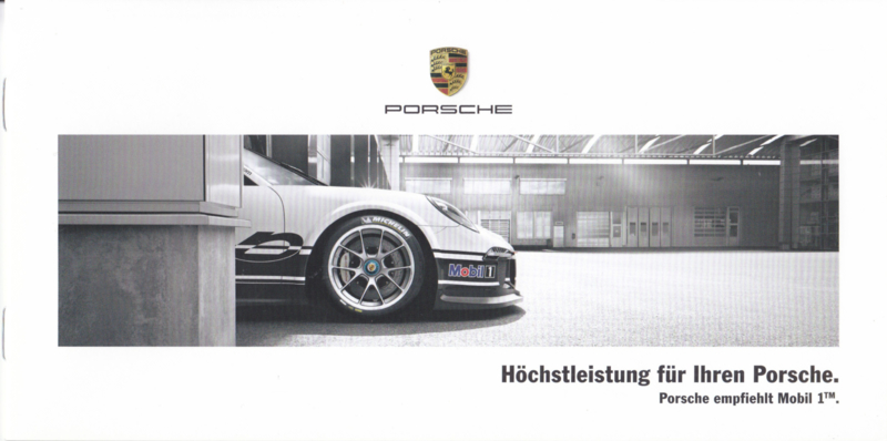 911 Mobil 1 oil brochure, 8 pages, 12/2014, German language