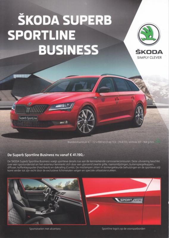 Superb Sportline Business brochure, 6 pages, Dutch language, 02/2017