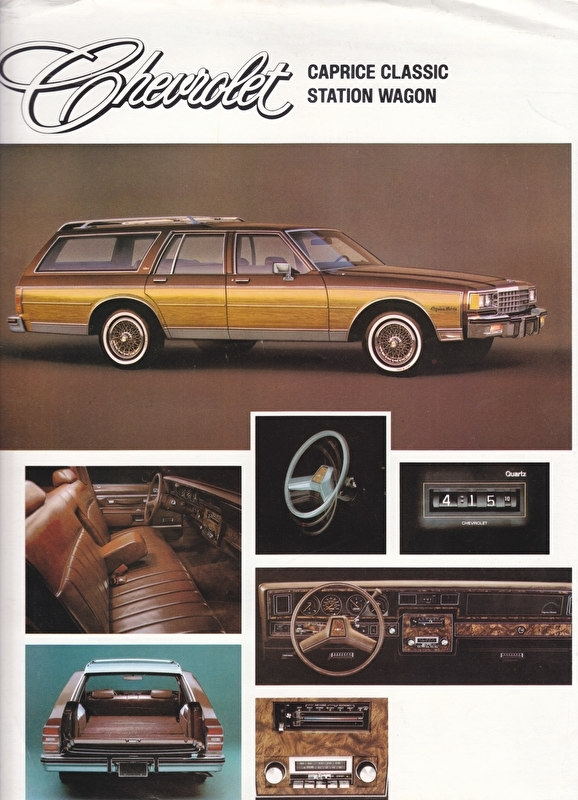 Caprice Classic Station Wagon 1983, 2 pages, export, 10/1982, German language