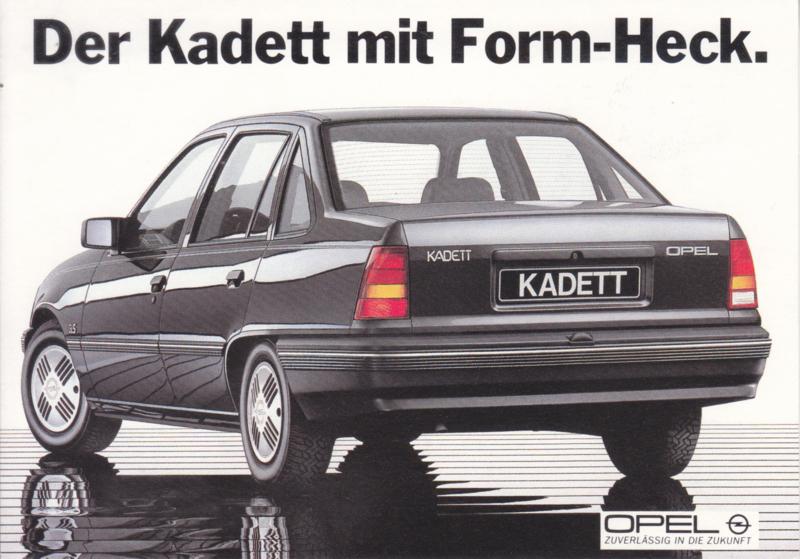 Kadett postcard, DIN A6-size, about 1977, German language