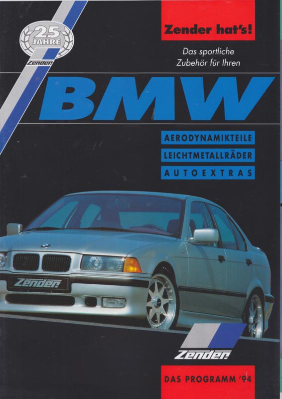 BMW Zender Tuning program brochure, 40 pages, A4-size, 1994, German language