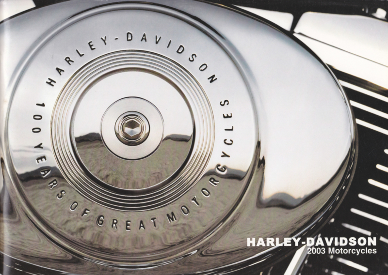 Harley Davidson 2003 program brochure, 68 pages, Swedish language