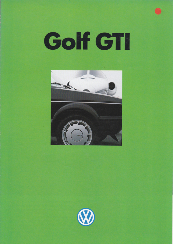 Golf GTI brochure, A4-size, 4 pages, French language, 1984