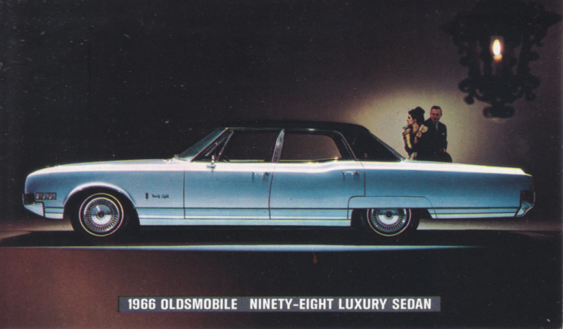 98 Luxury Sedan, US postcard, standard size, 1966,  # 111