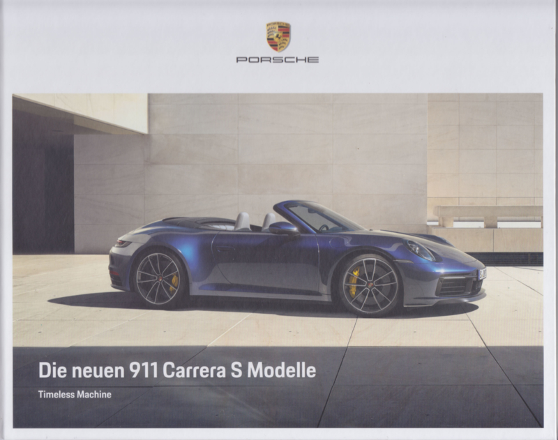 911 Carrera Coupe & Cabriolet brochure, 60 large pages, 01/2019, German. hard covers