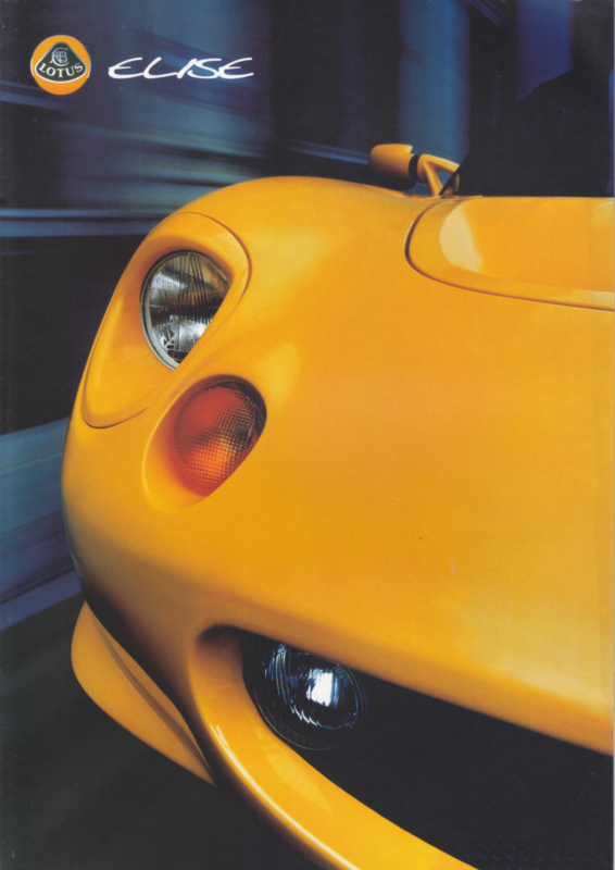 Elise sportscar, 6 pages, DIN A4-size, factory-issued, 1999, 4 languages (E/G/F/I)