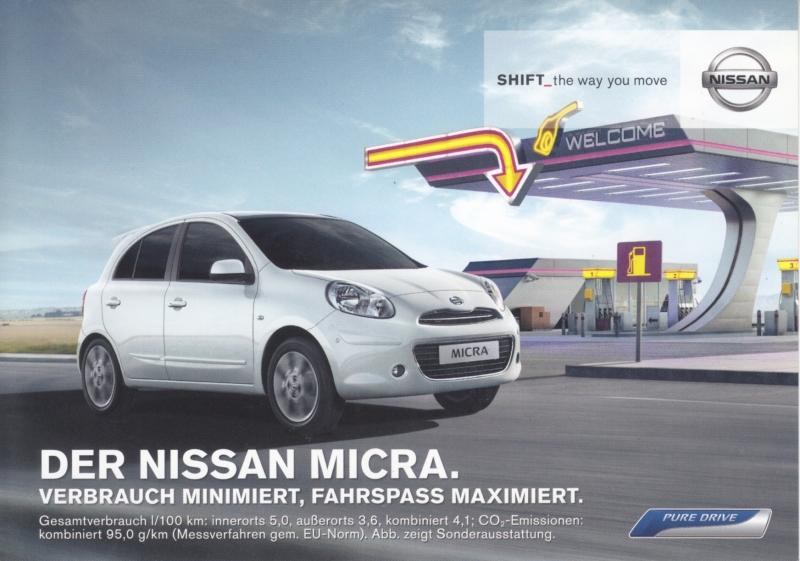 Micra DIG-S postcard,  DIN A6-size, about 2014, German language
