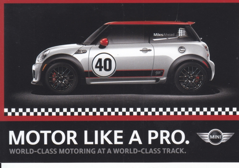 Cooper S 'motor like a pro', postcard, DIN A6-size, about 2014, English language