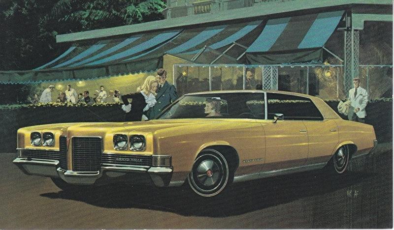 Grand Ville 4-Door Hardtop, 1971, standard-size, USA