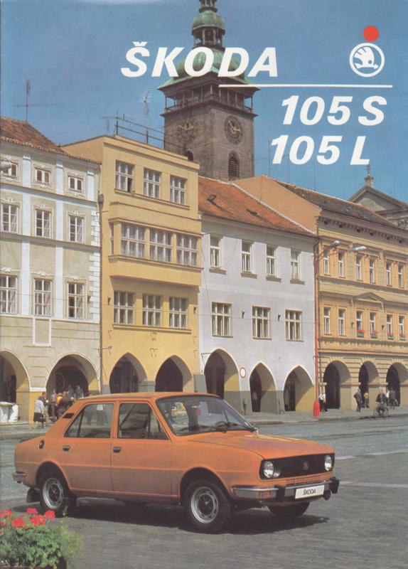105 S/L Sedan brochure, 8 pages, Dutch language, about 1983, Belgium