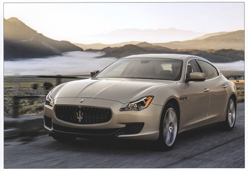 Quattroporte, postcard of Dutch Maserati Club, about 2014, # 3