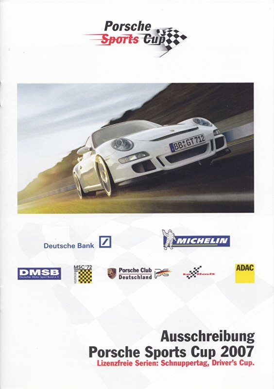 911 Sports Cup Germany, 24 pages, 02/2007, German language