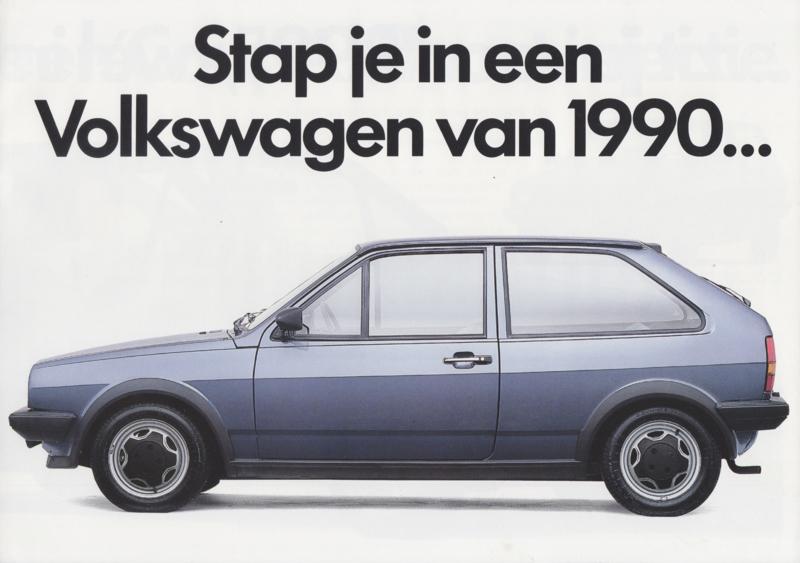 Polo 1.3 /1.3 Coupé brochure, 4 pages,  A4-size, Dutch language, 12/1989
