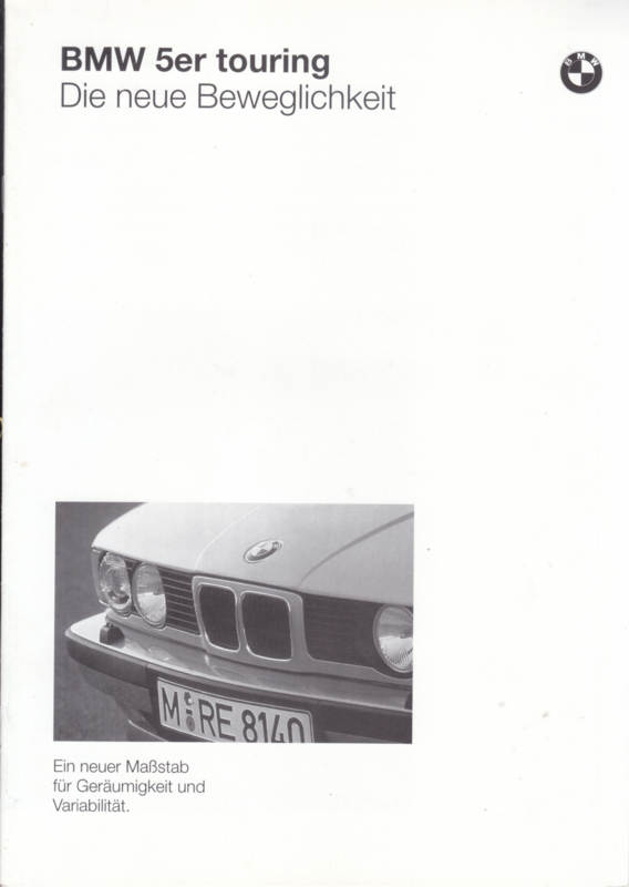 5-Series Touring brochure, 8 pages, A4-size, 1/1991, German language