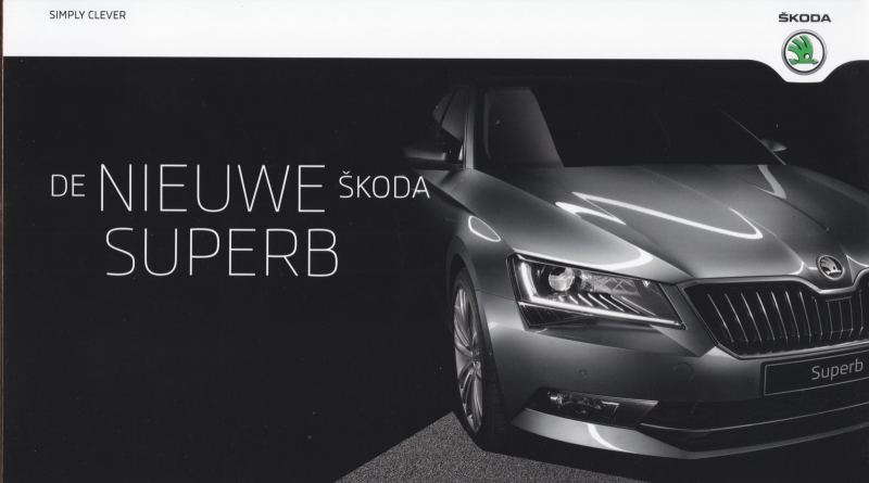 Superb new model brochure, 20 pages, Dutch language, 2015