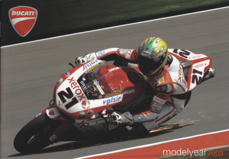 Ducati 2009 program brochure, 52 pages, 6 different languages