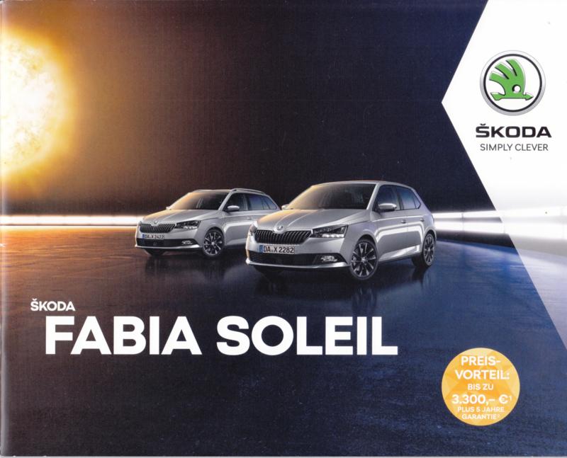Fabia Soleil brochure, 24 pages, German language, 11/2018