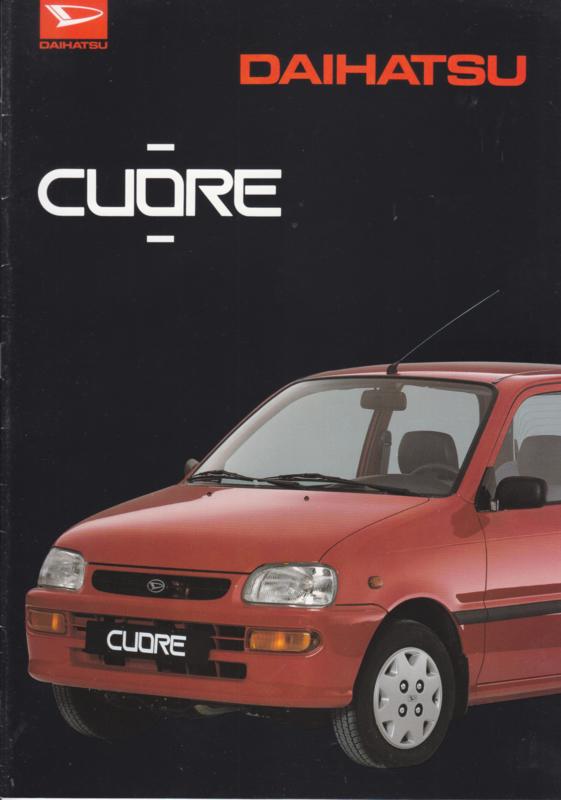 Cuore brochure, 16 pages, about 1995, A4-size, Dutch language