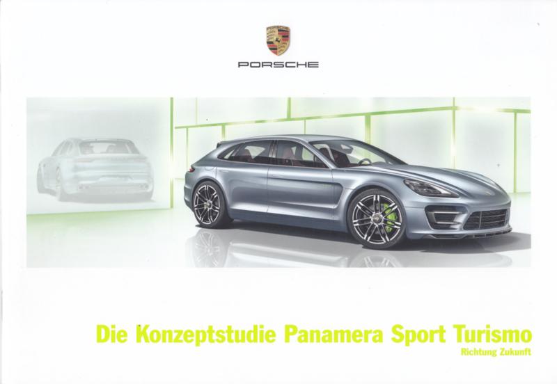 Panamera Sport Turismo concept study brochure, 20 pages, 09/12, German language