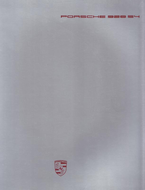 928 S4 brochure, 32 pages, German language, 07/1987