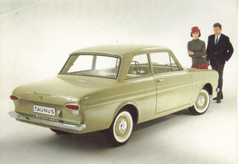 Ford Taunus 12M  2-door, advertising postcard, German, # 2 XD 126/3