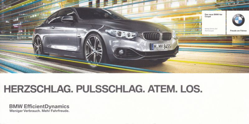 4-series Coupé, 21 x 10,5 cm, German language, about  2015