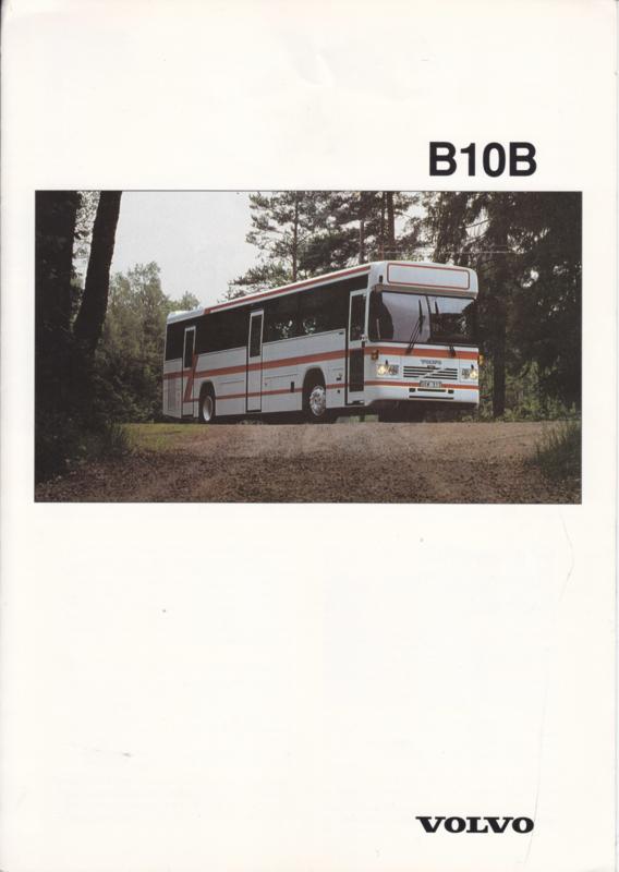 Volvo B10B brochure, 6 pages, A4-size, 1992, English language