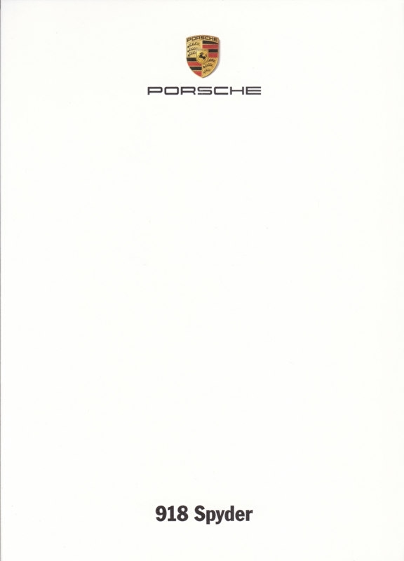 918 Spyder Hybrid, A6-size set with 6 postcards in white cover, 2013, WSRJ 1301 05S3 00, no text