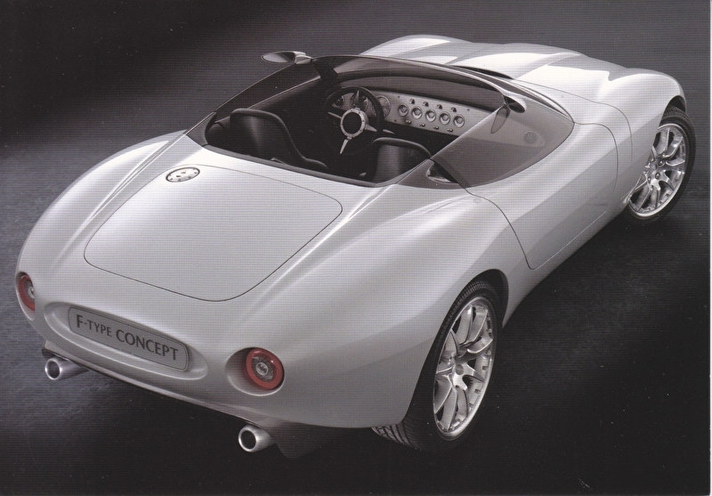 F-Type concept, large postcard, 16 x 11 cm, Detroit motorshow 2000