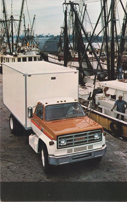 GMC Truck, US postcard, standard size, about 1975