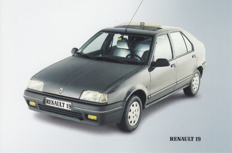 19 Hatchback maintenance prices, A6 size card, Dutch language, about 2000