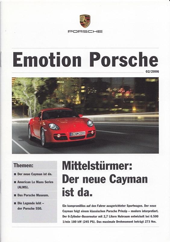 Emotion Porsche 02/2006 with Cayman, 16 pages, 05/2006, German language
