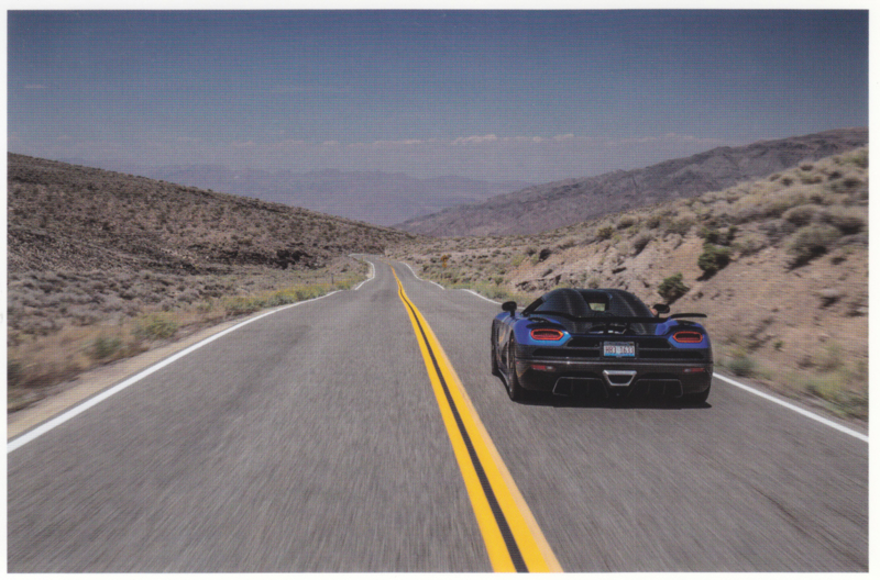 Agera HH, A6-size postcard, factory-issued, English text, 2015