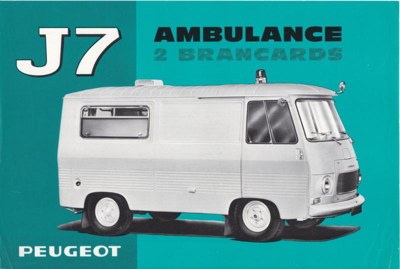 J7 Ambulance leaflet, 2 pages, A4-size, 03/66, Dutch language