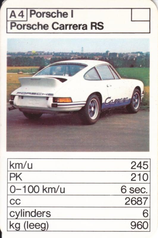 911 RS - card A4 - size 10 x 6,5 cm, Dutch language