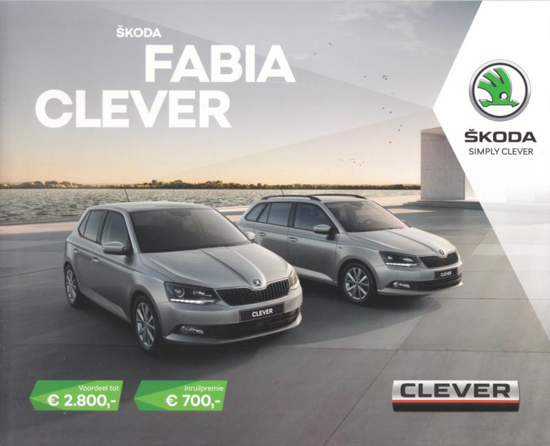 Fabia Clever brochure, 8 pages, Dutch language, 01/2018