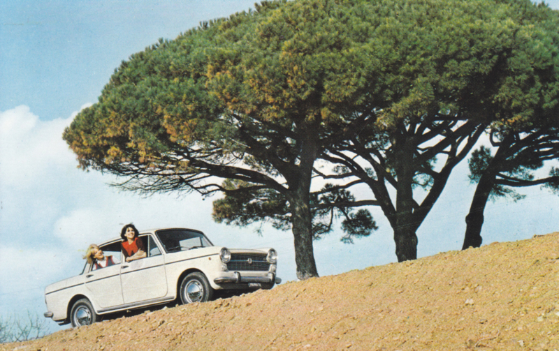 1100 R, standard size, Italian postcard (Sarig), about 1967