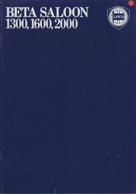 Beta Sedan brochure, A4-size, 30 pages, about 1976, English language