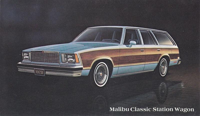 Malibu Classic Station Wagon, US postcard, standard size, 1978