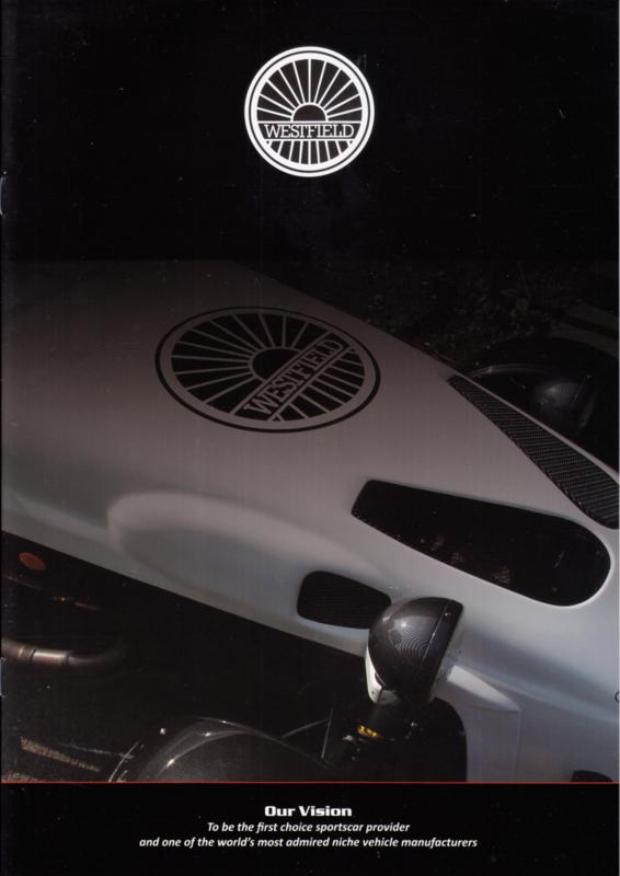 Westfield Sportscar brochure, 8 glossy pages, 01/2009, Dutch language