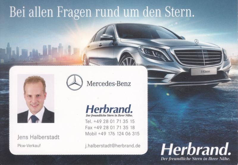 S-Klasse, A6-size postcard, dealer-issued, German