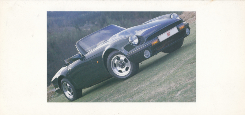 V8 S Convertible brochure, 4 pages + specs., English language, about 1990 *