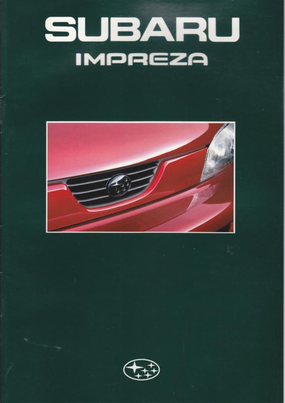 Impreza brochure, 28 pages + specs., Dutch language, about 1992