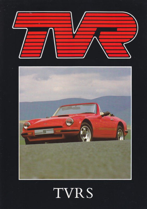 S Convertible brochure, 4 pages, English language, about 1988
