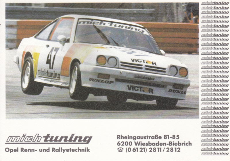 Manta Race & Rallye Tuning by Mich postcard, DIN A6-size, about 1981, German language
