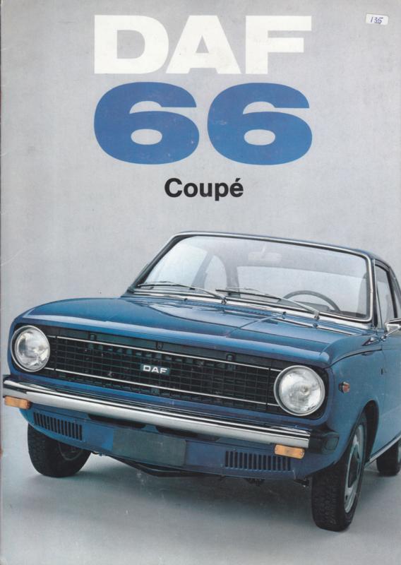 66 Coupé Variomatic brochure, 12 pages, 09/72, Dutch language